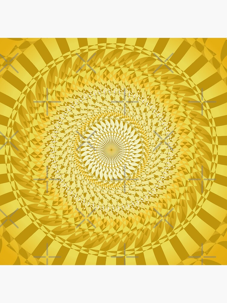 Sun Mandala Gelb von pASob-dESIGN