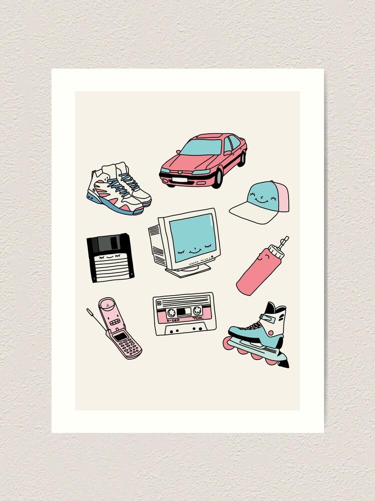 Alternate view of 90s paradise by Elebea Art Print