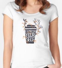 express yourself Women's Fitted Scoop T-Shirt