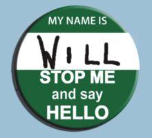 The Inbetweeners - Hi I am Will Big Gay Green badge