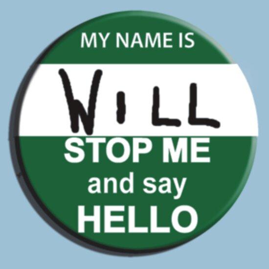 TShirtGifter presents: The Inbetweeners - Hi I am Will Big Gay Green badge