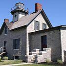 Cedar Point Lighthouse by Monnie Ryan