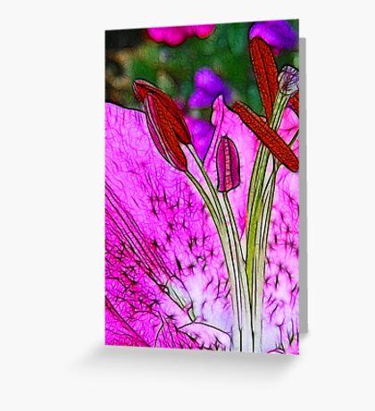 Fractalius Flower Greeting Card