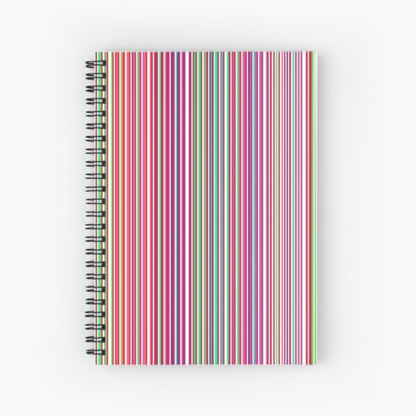 Stripes or Colourful Barcode Spiral Notebook