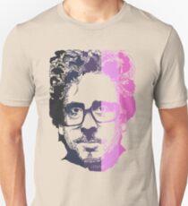 Tim Burton in stripes! Unisex T-Shirt