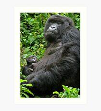 Gorilla Momma Art Print
