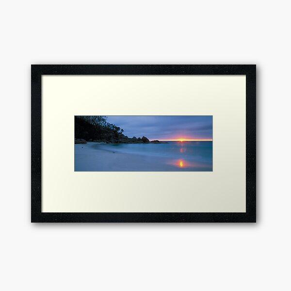 Sunrise - Little Waterloo Bay Framed Art Print