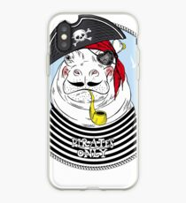 Hippo pirate iPhone-Hülle & Cover
