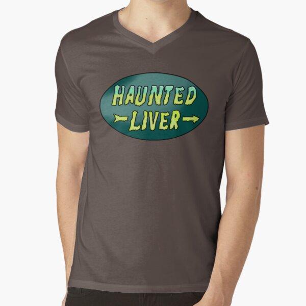 Haunted Liver V-Neck T-Shirt
