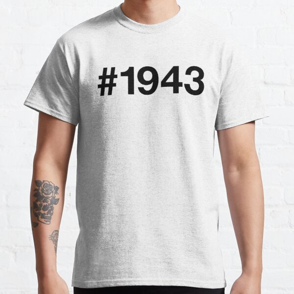 77th Birthday Varsity College Year 1943 Unisex T-Shirt Dad Father Grandad Gift