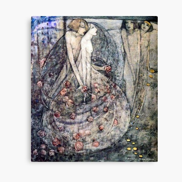 Glasgow School. Frances Macdonald MacNair, The Choice. Canvas Print