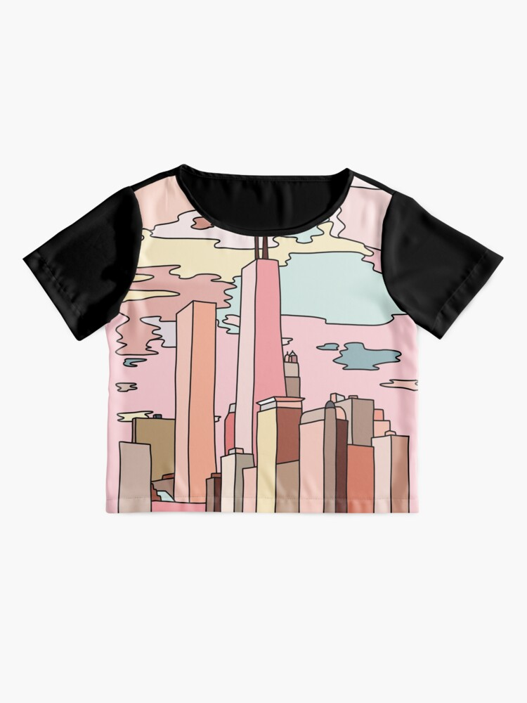 Alternate view of Chicago sunset by Sasa Elebea Chiffon Top