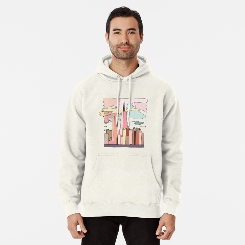 Chicago sunset by Sasa Elebea Pullover Hoodie