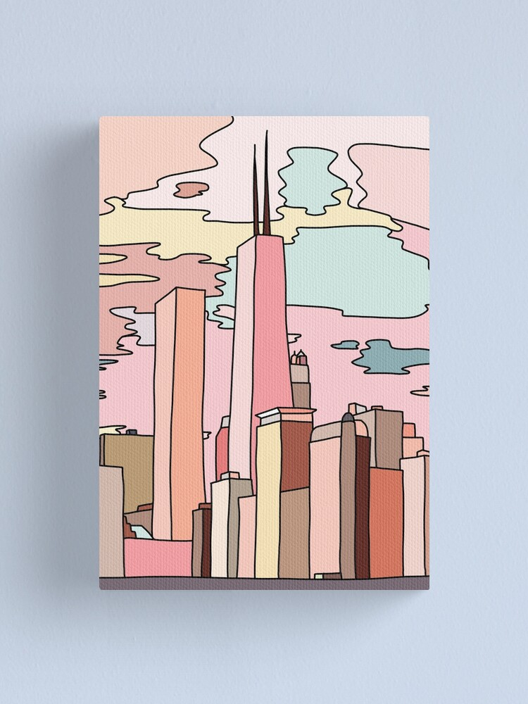 Alternate view of Chicago sunset by Sasa Elebea Canvas Print