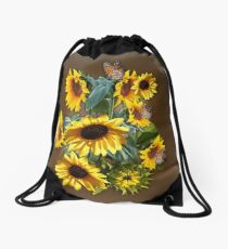 Yellow Sunflowers for Wisdom, Harmony   Drawstring Bag