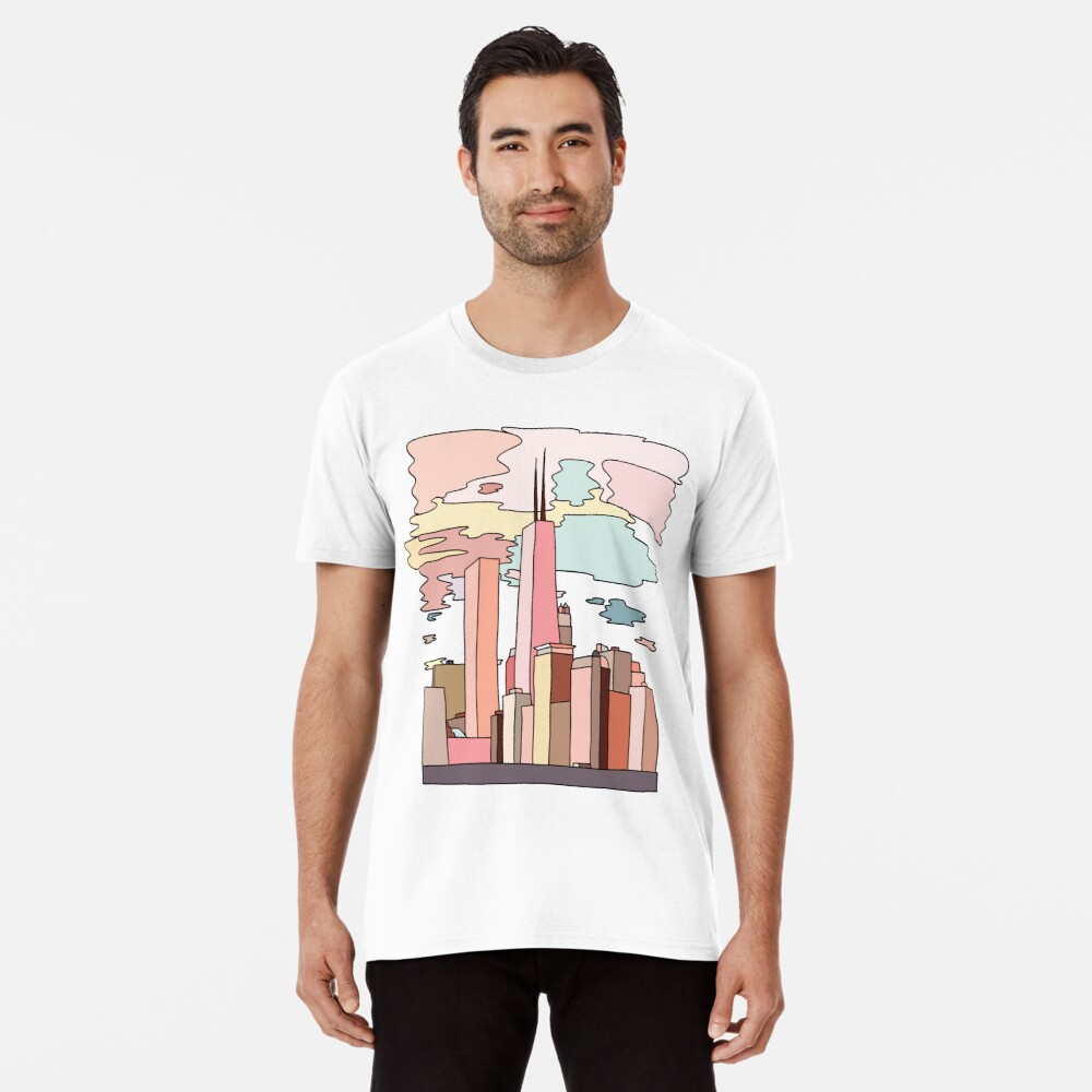 Chicago sunset by Sasa Elebea Premium T-Shirt
