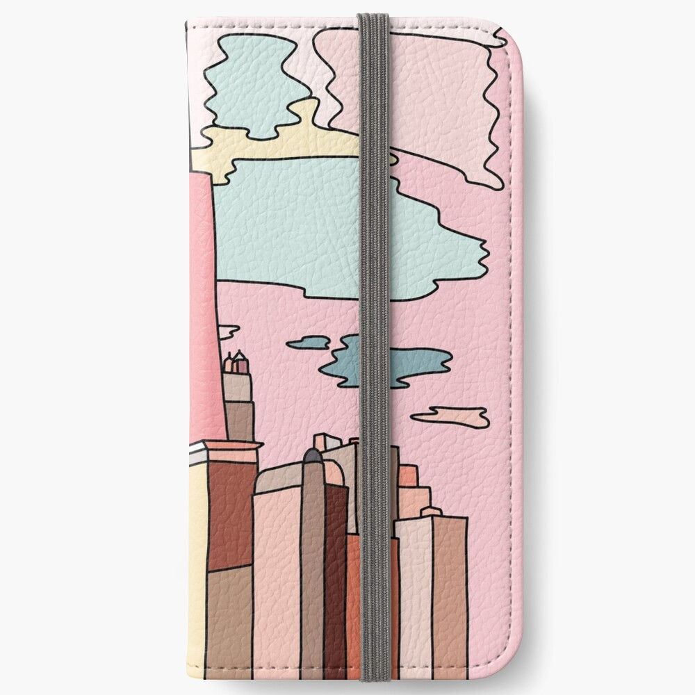 Chicago sunset by Sasa Elebea iPhone Wallet
