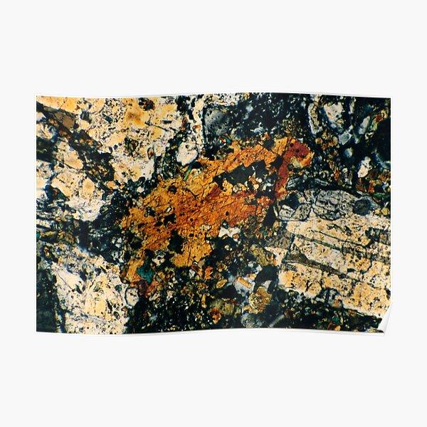 Feldspar Mineral Photograph Poster