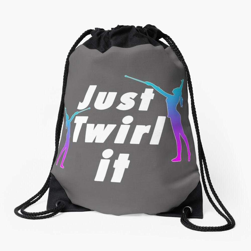 Top fun Baton Twirling Just Twirl it Gift Design Drawstring Bag