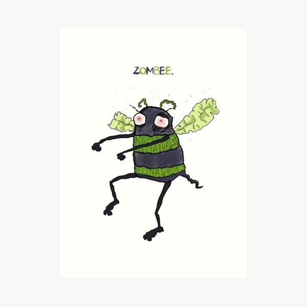 Zombie Bumblebee (Zombee) Art Print