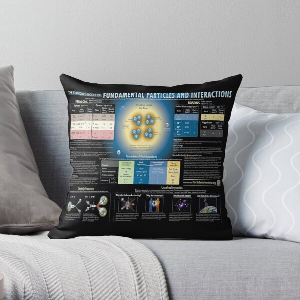 Educational Poster: The Standard Model of Fundamental Particles and Interactions Throw Pillow