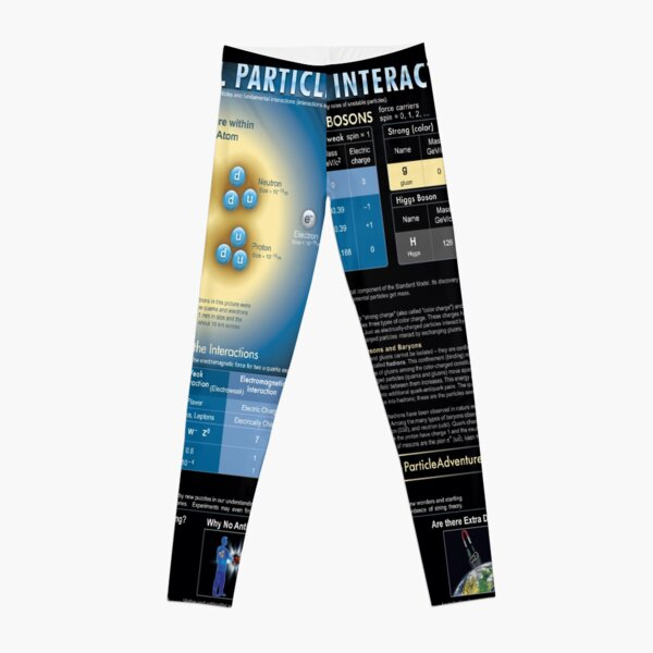 Educational Poster: The Standard Model of Fundamental Particles and Interactions Leggings