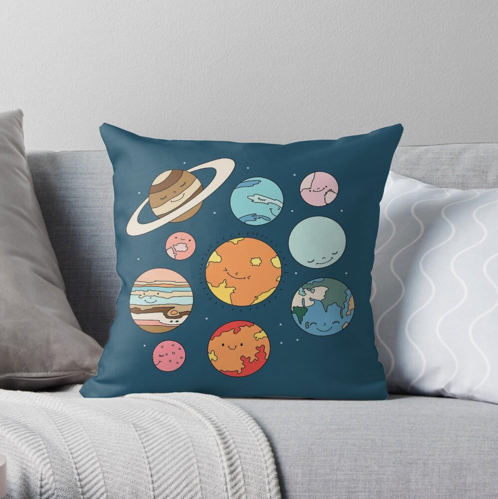 Cosmos by Elebea Throw Pillow