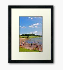 Beach Fun at Carsington Water Framed Print