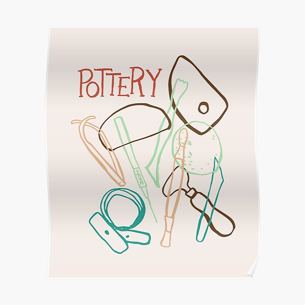 Pottery Making Tools T Shirt Poster