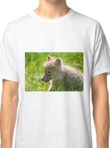 Just smelling the flowers _ Arctic Wolf Pup Classic T-Shirt