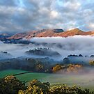 Mists on Derwentwater and Catbells in the English Lake District by Martin Lawrence