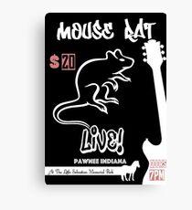 Mouse Rat Concert Poster Canvas Print