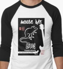 Mouse Rat Concert Poster Men's Baseball ¾ T-Shirt