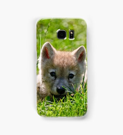 If they could only stay so young - Arctic Wolf Pup Samsung Galaxy Case/Skin