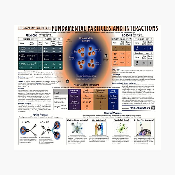 The Standard Model of Fundamental Particles and #Interactions - #Physics #StandardModel #FundamentalParticles Photographic Print