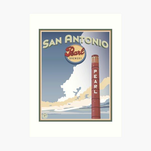 Pearl Brewery: Smokestack Art Print