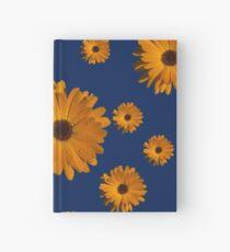 Orange power flower Hardcover Journal