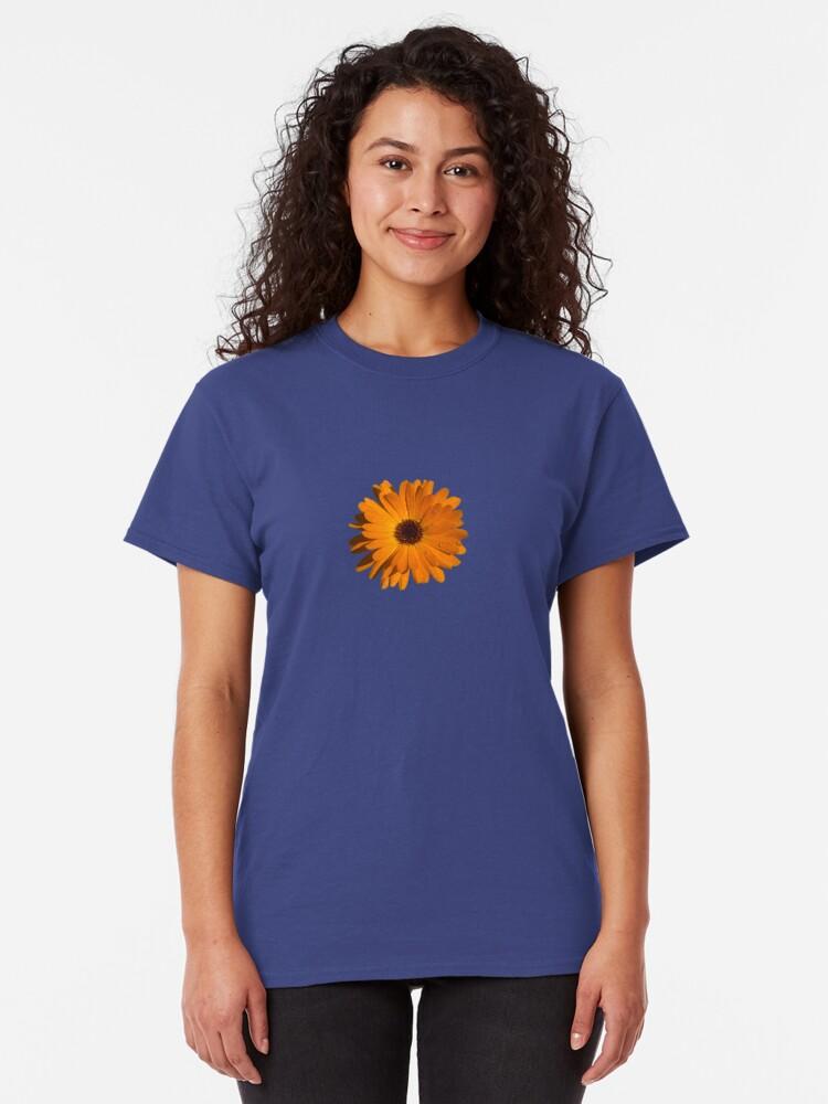 Alternate view of Orange power flower Classic T-Shirt