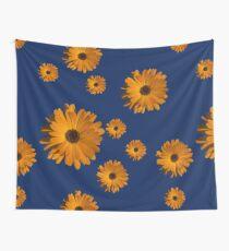 Orange power flower Wall Tapestry