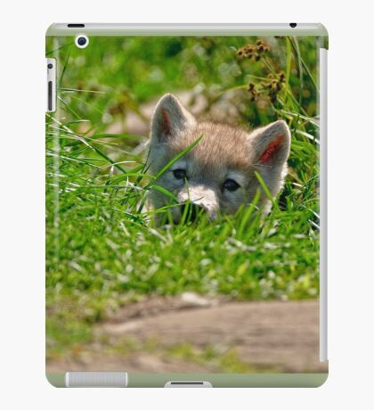 Who Me?? Arctic Wolf Pup iPad Case/Skin