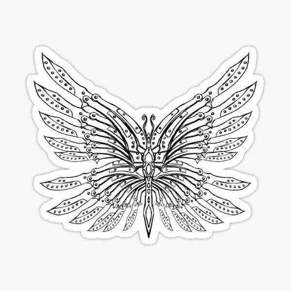 Butterfly Knives Tattoo Sticker