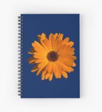 Orange power flower Spiral Notebook