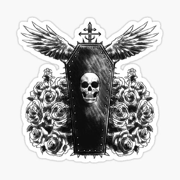 Coffin Tattoo Sticker