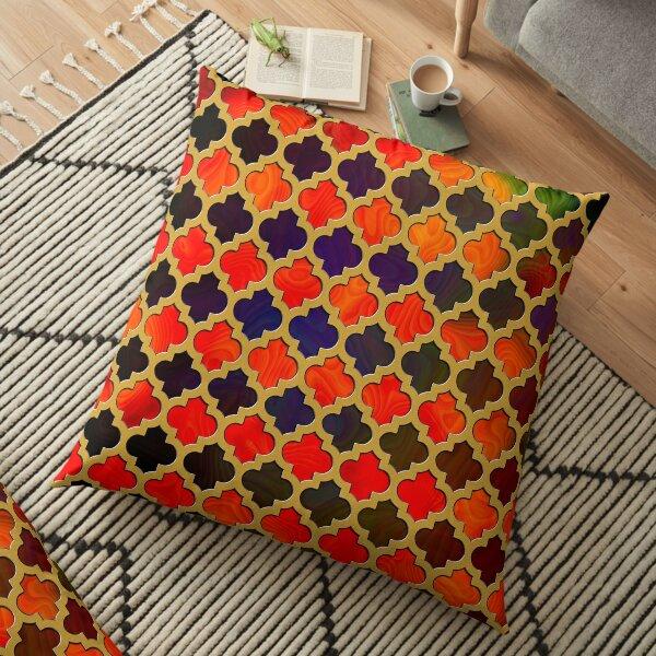 Moroccan pattern - golden cage Floor Pillow
