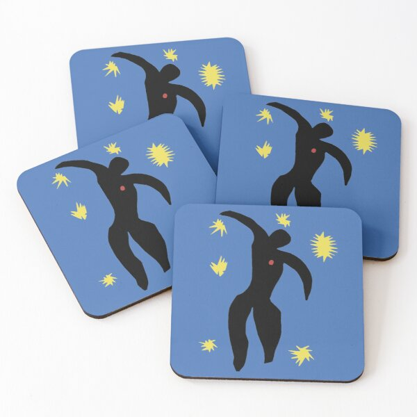 Henri Matisse, Icarus (Icare) from Jazz Collection, 1947, No Background Artwork, Men, Women, Youth Coasters (Set of 4)
