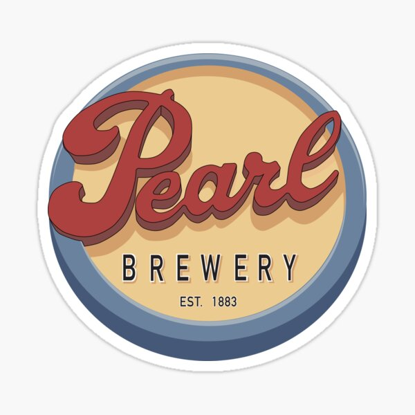 Pearl Brewery Sign Sticker