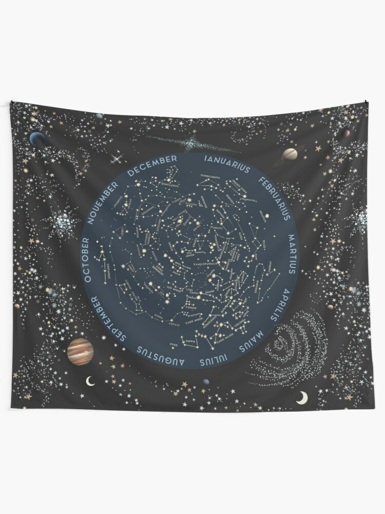 Alternate view of Come with me to see the stars Wall Tapestry