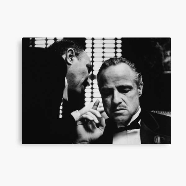 The Godfather movie poster don Marlon Brando Canvas Print