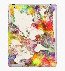 World map in watercolor  iPad Case/Skin