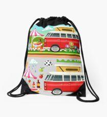 Summer Holiday 3D Picnic Flat Set Drawstring Bag
